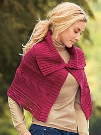 Cabled Sweater Capelet
