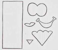 MOLDES DE E.V.A: MOLDE ESTOJO... EVA. Bookmarks Kids, Corner Bookmarks, Diy And Crafts, Crafts For Kids, Paper Crafts, Transparent Flowers, Kids Education, Flower Crafts, Classroom Decor