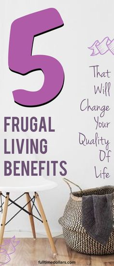 Frugal living has many benefits that can have positive long-term effects on your financial and lifestyle goals. What if there was a way to live more simply, with less stuff to your name? Along with outlining 5 benefits of frugal living, I will give you some ideas to help you on your path to a more frugal life.