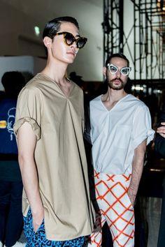Jo Min Ho and James Lee McQuown at Push Button Spring 2015 Seoul Fashion Week shot by Lim Hong Jae