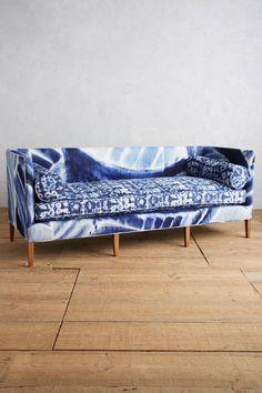 Anthropologie Shibori-Printed Harper Sofa home decor/interior design/shopping/affiliate Sofa Furniture, Living Room Furniture, Furniture Removal, Furniture Design, Objet Deco Design, Printed Sofa, Upholstered Sofa, Fabric Sofa, Home Interior
