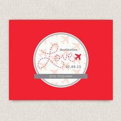 Travel - Modern destination wedding invitation via Etsy