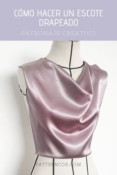 Tutorial escote drapeado - Boards Tutorial and Ideas Diy Clothing, Clothing Patterns, Sewing Patterns, Make Your Own Clothes, Couture, Free Sewing, Refashion, Diy Fashion, Dress Making