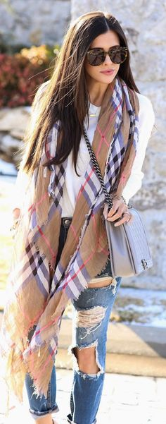 Burberry Scarf by The Sweetest Thing Loving it. Whenever Burberry takes part of an outfit, it gets a thumb up from me. -Juliette Said