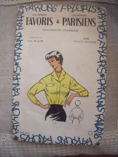French vintage pattern on pinterest for Patron tablier vintage