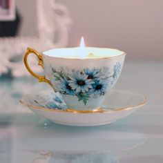 Make your own homemade DIY teacup candles. A simple and easy project to do, and they make great gifts.