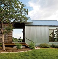 dogtrot idea--slatted barn doors for ventilation but will keep kids/pets inside when needed.
