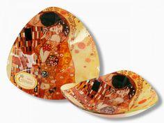 Sklenená miska 17x17 G. Klimt Kiss