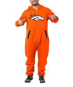 Look what I found on #zulily! Denver Broncos One-Piece Jumpsuit - Adult #zulilyfinds