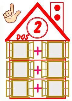 Hoy os dejo unas casitas que he preparado para hacer sumas a través de la desomposiciones de los números 1 y 2. Además también os dejo otr...