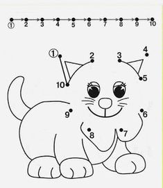 Tracing Worksheets for Kids. Free dot to dot worksheets for kids. Pre K Worksheets, Printable Preschool Worksheets, Free Preschool, Preschool Learning, Preschool Activities, Free Printable, Matching Worksheets, Teaching, Numbers Kindergarten