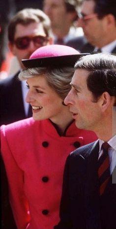 April 15, 1986: Prince Charles & Princess Diana promoting british trade in Vienna, Austria.