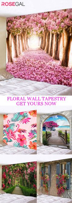Rosegal Floral wall tapestry tapestry bedroom tapestry wall hanging home decor tapestry ideas #Rosegal #walltapestry #homedecor