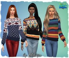 All4Sims: Sweaters and beanies by Chalipo