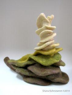 """""""Polypore Slug""""  Wool. 14"""" x 7 1/2"""" x 10 1/2"""" - Shana Kohnstamm ©2014"""