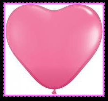 Pink heart shaped balloons bridal shower baby by PartySurprise, $3.95