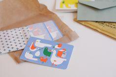 risoprint postcard designed by sarah van belle! handmade in antwerp with care
