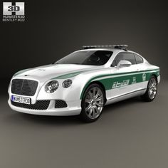 Bentley Continental GT Police Dubai Fully editable and reusable model of a car. Police Truck, Police Cars, Police Vehicles, Bentley Continental Gt, Alto Car, Dubai, Bentley Rolls Royce, Car 3d Model, Benz Car