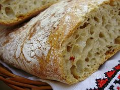 "Tento chlebík volám ""od večera do rána"", ako v tej pesničke, len mne nevyhráva… Czech Recipes, Russian Recipes, Bread Recipes, Cake Recipes, Cooking Recipes, Croissant Bread, Bread And Pastries, Food And Drink, Favorite Recipes"