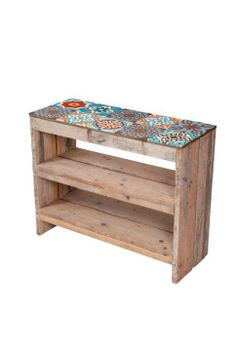 Now I wanna put tiles on stuff Recycled Furniture, Pallet Furniture, Furniture Making, Cool Furniture, Painted Furniture, Furniture Design, Tile Crafts, Wood Crafts, Tile Tables