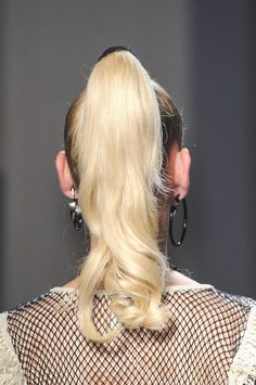 Ponytail Hair Style Trend for Spring Summer 2013.  Jean Paul Gaultier Spring Summer 2013. #hair  #trends