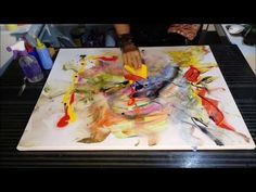 Abstract large acrylic painting demo - speedpainting - timelapse - by zacher-finet - YouTube