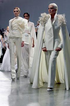 Stéphane Rolland Haute Couture Paris Summer 2013 with beautiful Carmen Dell'Orefice @}-,-;--
