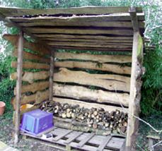 How to - Building a rustic wood shed  http://en.espritcabane.com/cabins/rustic-shed-plan.php