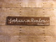 Excited to share the latest addition to my shop: PERSONALIZED COUPLES SIGN-Custom wedding gift-Name sign with heart & date-Established sign-Engagement Present-Stained wood sign-Anniversary Diy Projects For Couples, Diy Projects To Try, Custom Wedding Gifts, Personalized Wedding Gifts, Engagement Presents, Engagement Photos, Established Family Signs, Wedding To Do List, Cricut Wedding