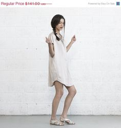 Pre Christmas Sale Double Placket Dress Summer Dress  by Naftul
