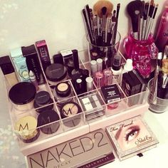 Organization makes all your make up more accessible.
