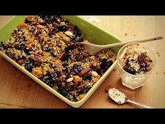 Πως φτιάχνω σπιτική Granola - Paxxi 1min C25 - YouTube Vegan Granola, Cereal Bars, Sweet Recipes, Acai Bowl, Food And Drink, Sweets, Homemade, Vegetables, Eat