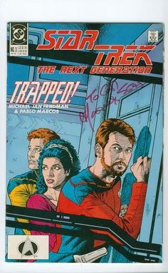 1989 Vintage Star Trek: The Next Generation  Number 3 December DC Comics Autographed