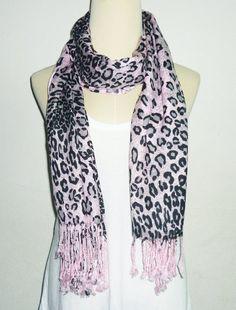 New Women UK Fashion Leopard cross Print Neck Scarves Wrap  Warm