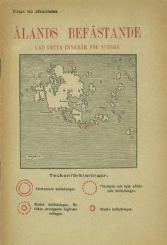 "A booklet from 1916, ""The Fortification of Åland Islands: What Does It Mean for Sweden."""