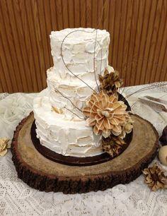 "TREASURY ITEM - 16""  x 14"" Rustic Oak Tree Trunk Slice  - Rustic Wedding - Home decor - Centerpiece - Cake stand"