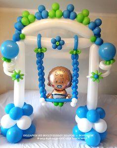 Μπαλόνια Baby Shower Balloon Decorations, Party Decoration, Baby Shower Balloons, Birthday Balloons, Baby Shower Parties, Baby Shower Themes, Baby Boy Shower, Birthday Decorations, Balloon Toys