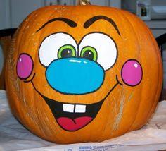 Halloween Pumpkin Makeup, Scary Halloween Pumpkins, Halloween Painting, Fall Halloween, Halloween Crafts, Halloween Decorations, Pumpkin Decorating Contest, Disney Pumpkin, Creative Pumpkins
