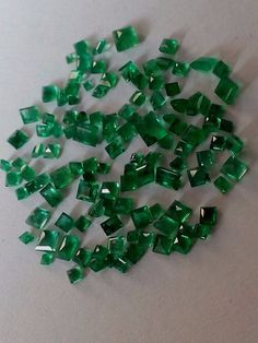 5.75 Cts Natural Emerald Brazilian Loose Gemstone Square shape #Unbranded