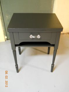 This Is A Night Stand I Just Completed Using An Old Sewing Machine Cabinet.  I