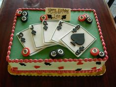 Poker sheet cake