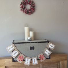 A personal favorite from my Etsy shop https://www.etsy.com/uk/listing/251866663/christmas-ho-ho-ho-hessian-bunting