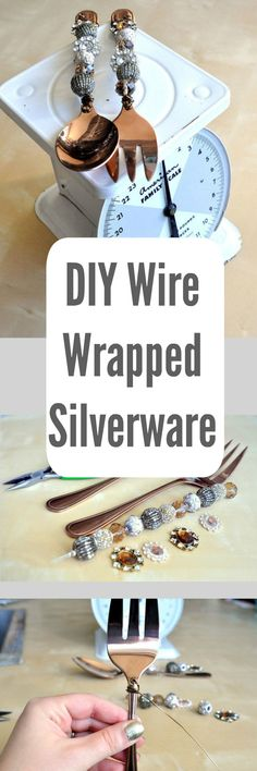 DIY Wire Wrapped Serving Utensils