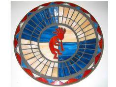 Kokopelli mosaic bird bath