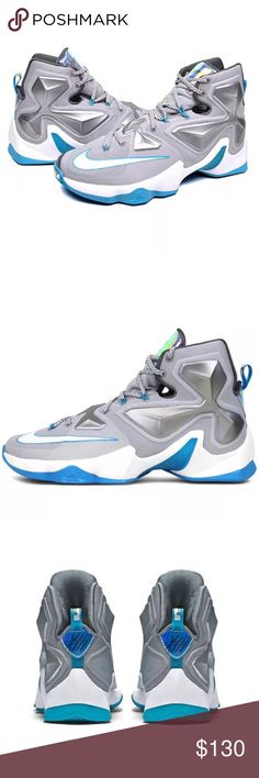 Nike Lebron XII 12 Hologram Basketball Shoes Sz 12 Nike Lebron XII 12 Hologram Basketball Shoes Sz 12  Brand : Nike  Style Code : 807219-014  Color : Wolf Grey/White-Blue Lagoon-Dark Grey  Size : Men's US 12  Brand new.  No box.  Never worn or tried on. Nike Shoes Athletic Shoes