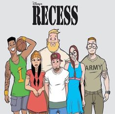 Recess. Some of these shows should be brought to movies. Hey Arnold, recess, Rocket power. Many others Recess Cartoon, Cartoon As Anime, Dope Cartoon Art, Black Cartoon, Cartoon Shows, Cartoon List, Cartoon Fan, Black Anime Characters, Cartoon Characters