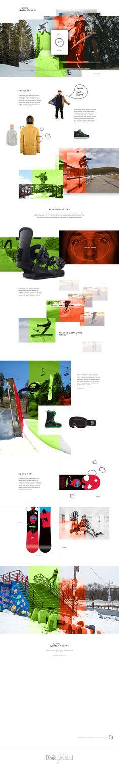 "Scott ""Sleepy"" Stevens UI concept signature web design by Ben Johnson, on…"