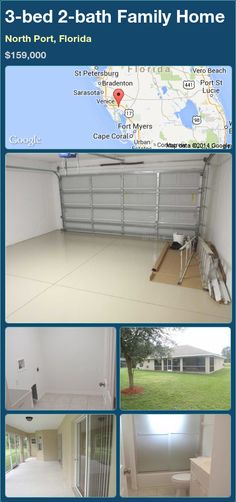 3-bed 2-bath Family Home in North Port, Florida ►$159,000 #PropertyForSale #RealEstate #Florida http://florida-magic.com/properties/74174-family-home-for-sale-in-north-port-florida-with-3-bedroom-2-bathroom