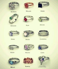 """""""Once Upon a Time"""" Character rings.:"""