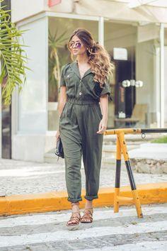 Macacão Militar Boho Fashion, Vintage Fashion, Womens Fashion, Estilo Boho, Looks Style, Mode Inspiration, Look Cool, Summer Looks, Her Style